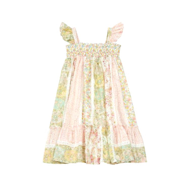 Nestina Floral Patchwork and Lace Dress