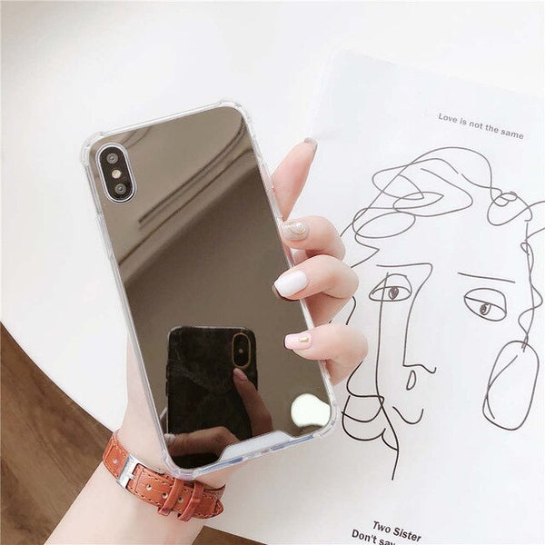 Case Miror For iphone 11 Airbag Soft TPU Phone Cover