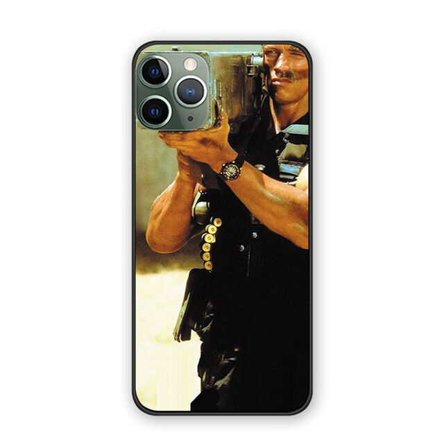 Case Arnold Schwarzenegger Commando poster back cover case For iphone 11 11pro 11proMax
