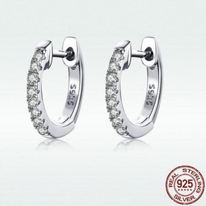 Earrings Classic Round Silver Authentic 925