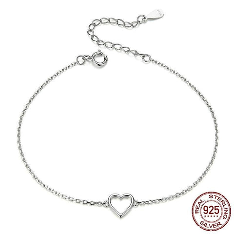 Curb Chaine 100% 925 Love Shape Bracelet 2020
