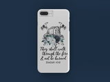 They Shall Walk Blue iPhone Case