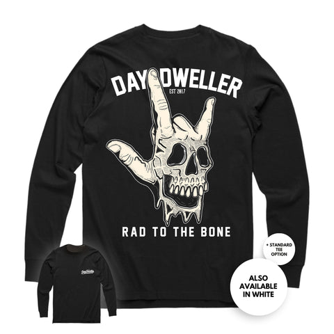 'Rad to the Bone'' Long Sleeve Tee