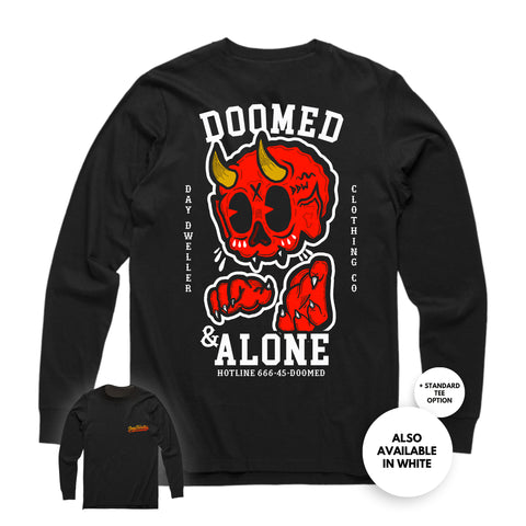 'Doomed & Alone' Long Sleeve Tee