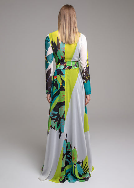 LONGO CREPE SILKY TROPICAL COLLOR