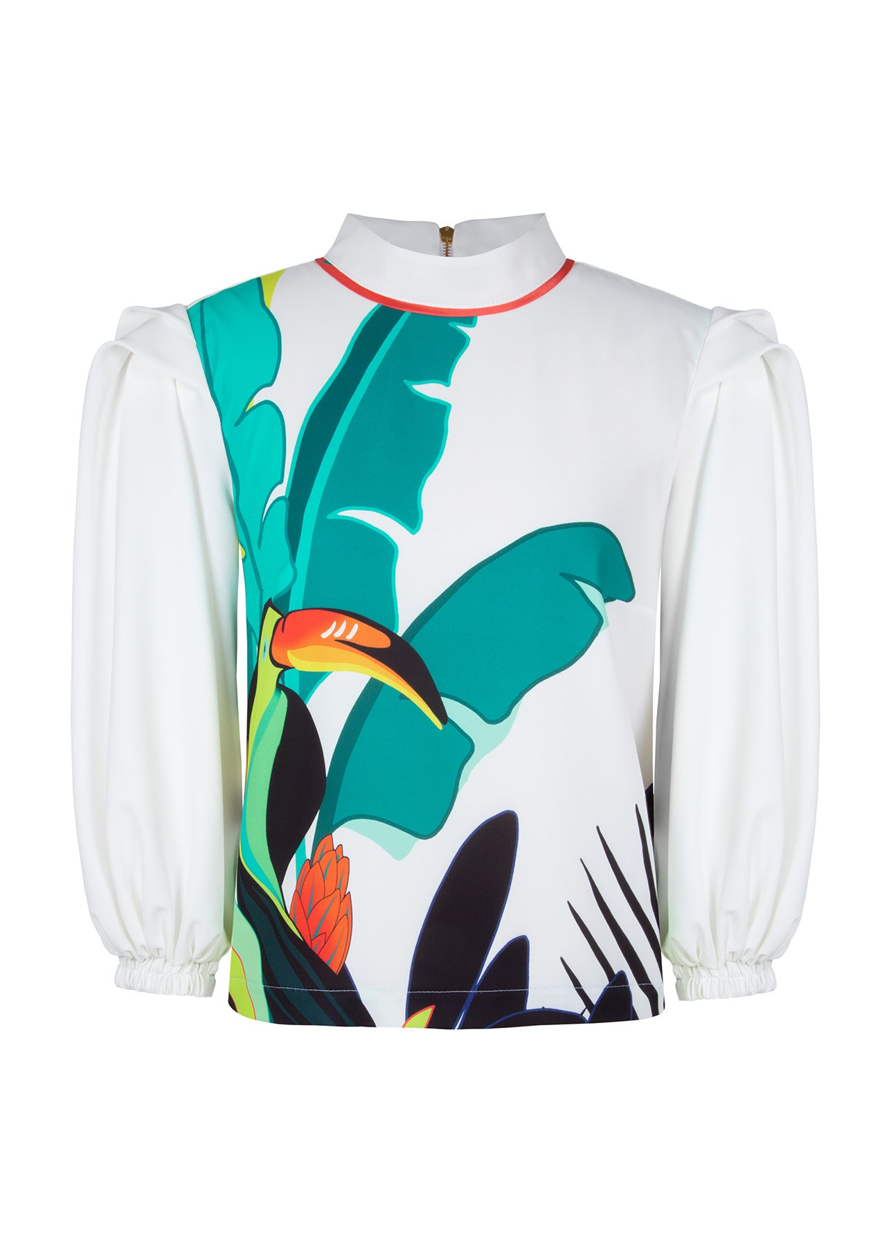BLUSA PANAMÁ TROPICAL COLLOR / CREPE