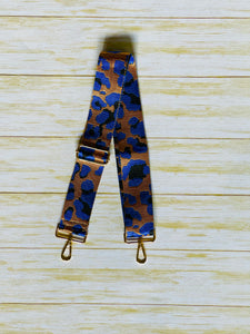Royal Blue Leopard Bag Strap