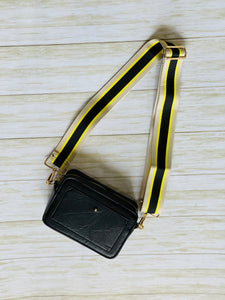 Black Cream Neon Bag Strap