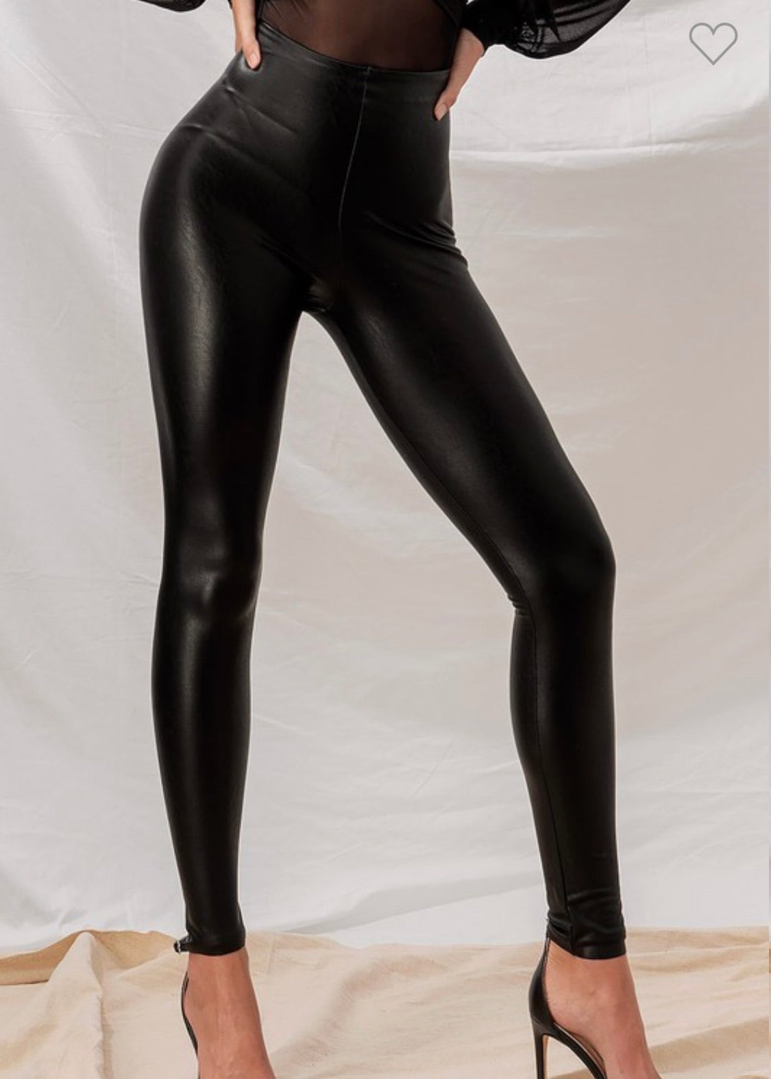 Play in Pleather Vegan leather leggings- lined
