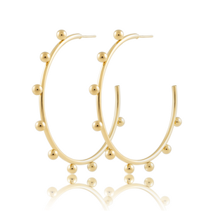 Erin Studded Hoops- large