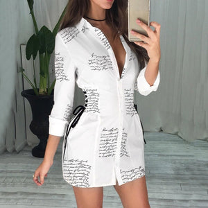 Sexy Long Sleeve Mini Dress