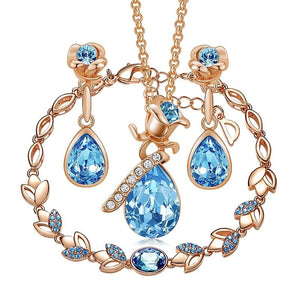 Blue Crystal Jewelry Set