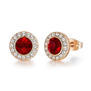 Luxurious Birthstone Crystal Earrings