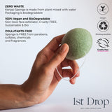 Konjac Sponges with Green Tea Extract - 2 pack