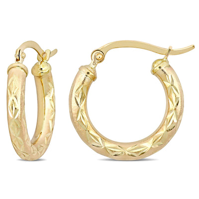 10k Yellow Gold Cleopatra Earrings