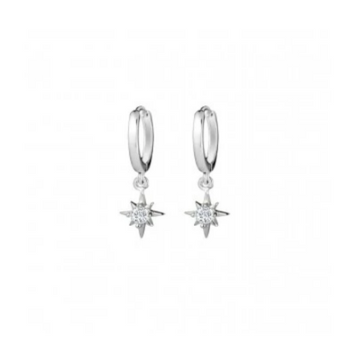 Saint Earrings in Silver
