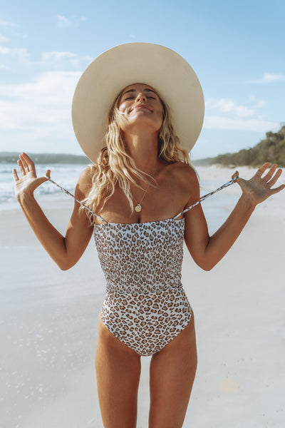 Salty Luxe Swim The Dani Leopard One Piece Shop Mude
