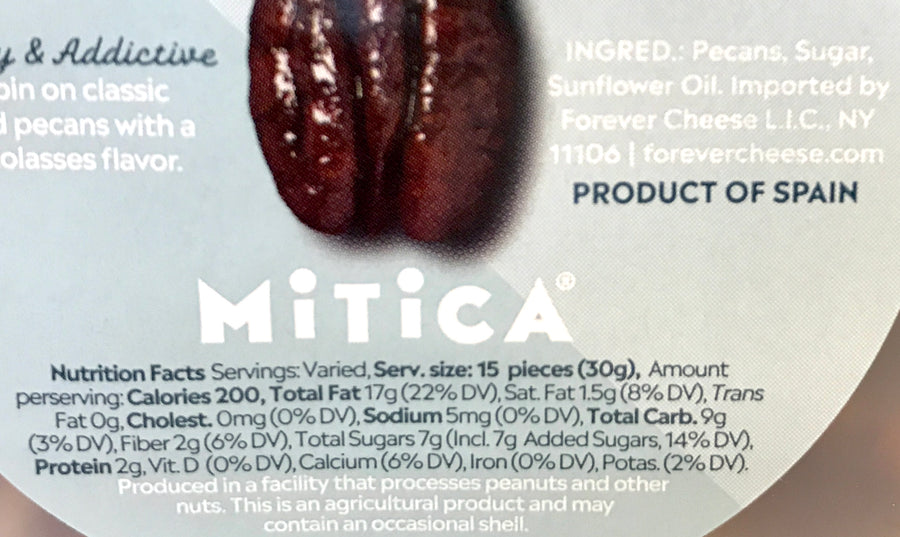 Mitica Caramelized Pecans 1/2 Pint