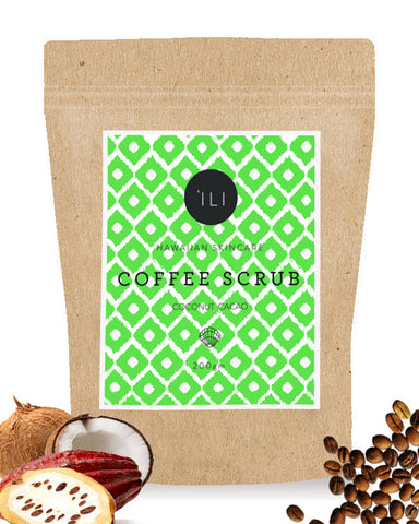 large coconut cocoa coffee scrub