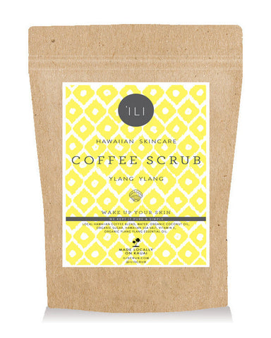 travel size coffee scrub ylang ylang