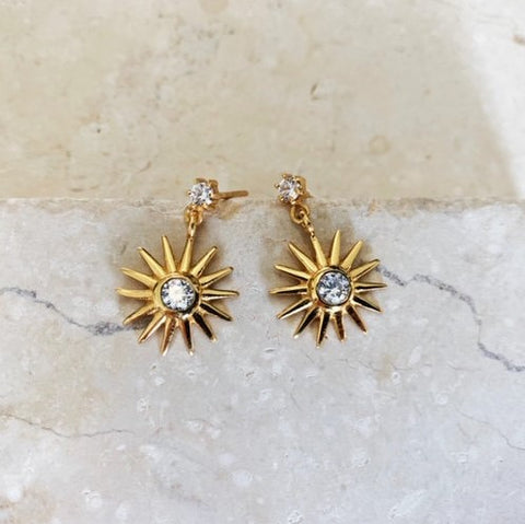 Full Sun Ray Earrings