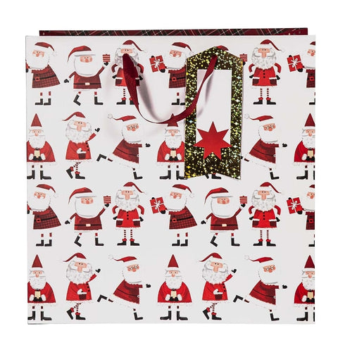 A choice of two large gift bags, perfect for either a large present or several smaller ones. One with Santa design & one with Christmas trees design.  Size 38x38x21.5cm
