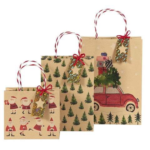 Artebene Gift Bag Car Design. Perfect for a family gift!  Size 22x30x11cm
