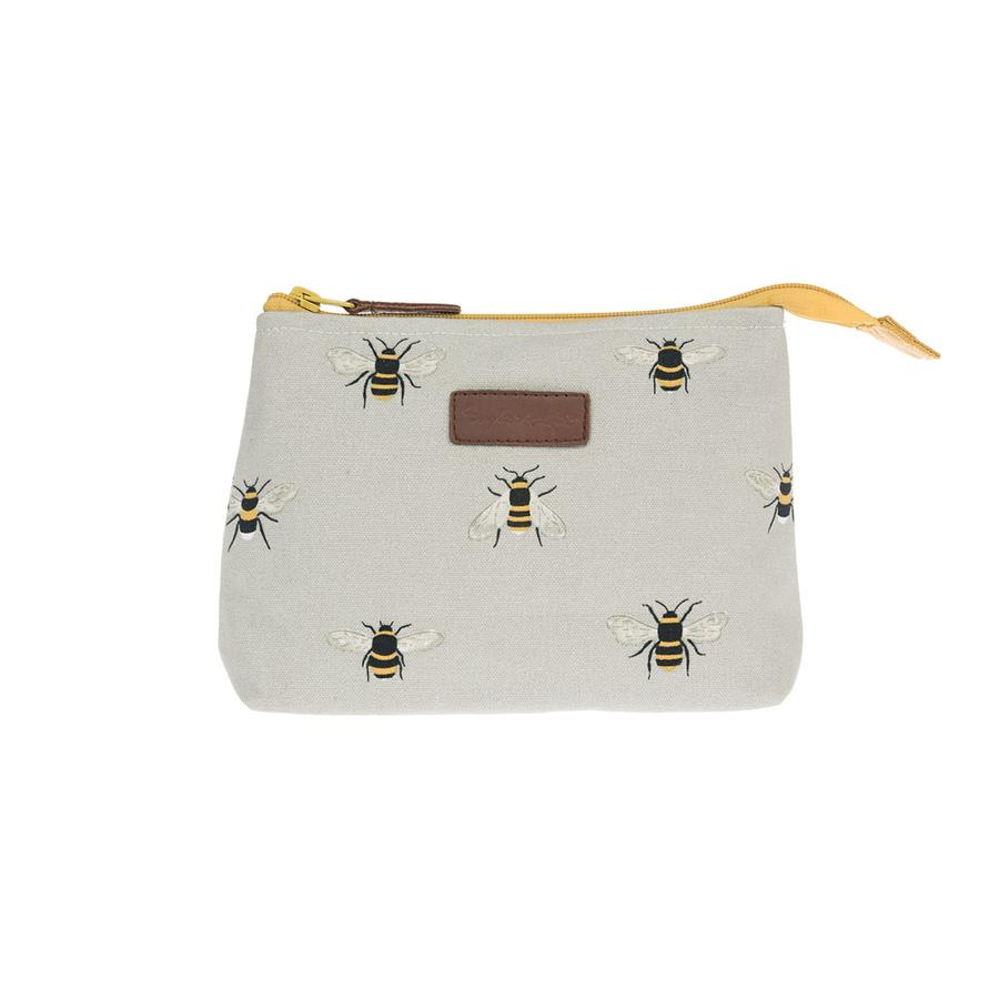 Bees Canvas Makeup Bag