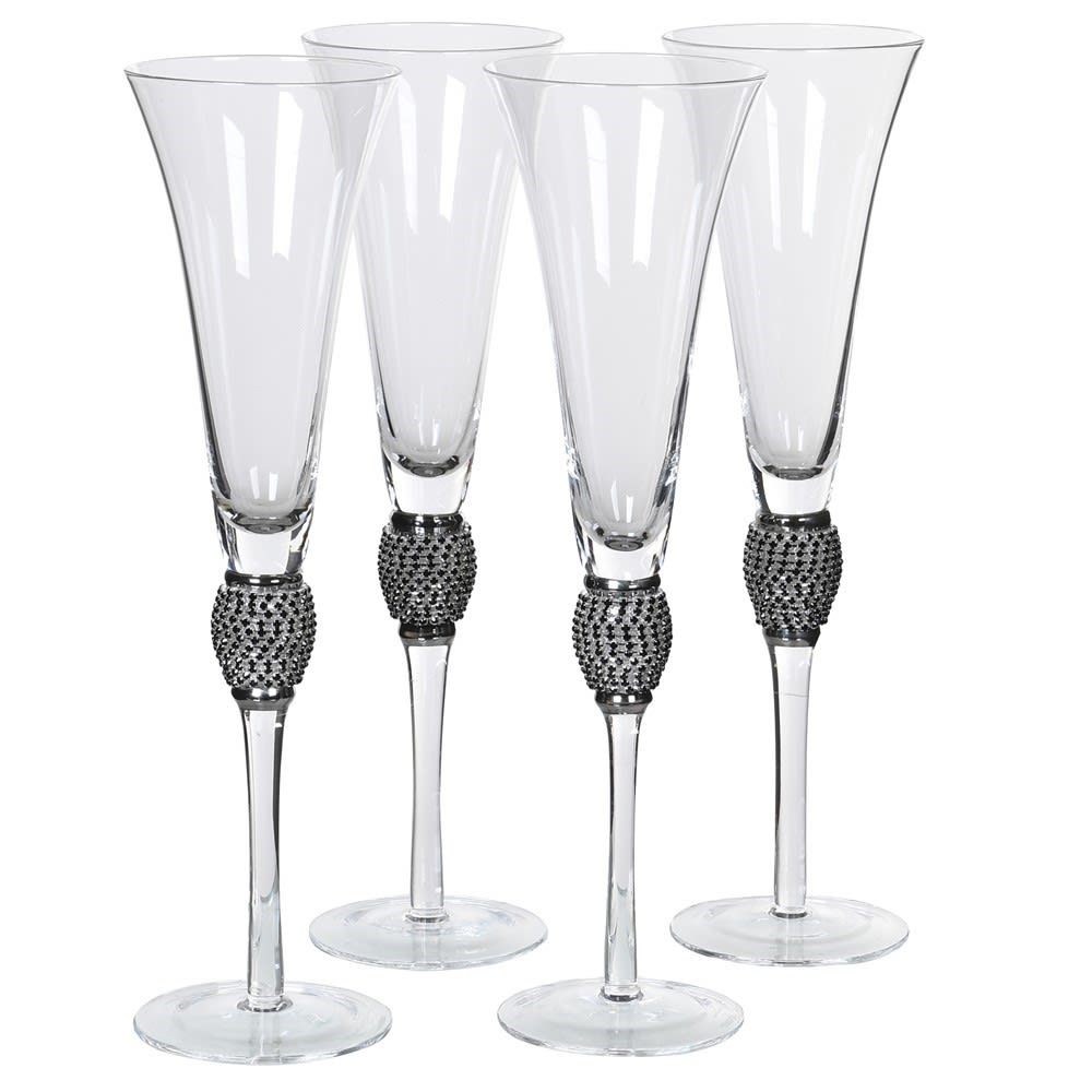 A stunning set of champagne flutes perfect for any special occasion, from Christmas Day to a wedding present. H:280 Dia:75 mm