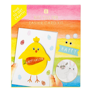 This card kit is the perfect activity for indoor fun at home!  Keep little hands busy with this arts and crafts Easter Card Making Kit. Decorate bunnies, chicks and lambs with stickers, pom poms and googley eyes or get creative and add your own decorations.  Each kit contains 4 x bunny cards, 4 x lamb cards, 4 x chick cards, googley eyes, pom poms and 275 adhesive stickers. Not suitable for children under 3 years of age due to small parts
