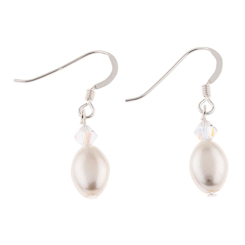 Ivory Pearl & Crystal Bridal Earrings