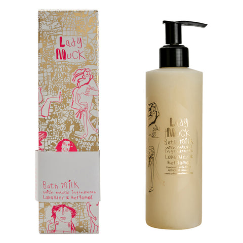 An ARTHOUSE take on a classically beautiful female form, Lady Muck is Peter Andrews' artistic vision brought to life in neon pink and rich gold. This rich bath and shower milk is an excellent moisturiser and deep cleansing cream for the face and body. Enriched with coconut oil which is known to be an excellent organic cleanser, it also effectively hydrates your skin.