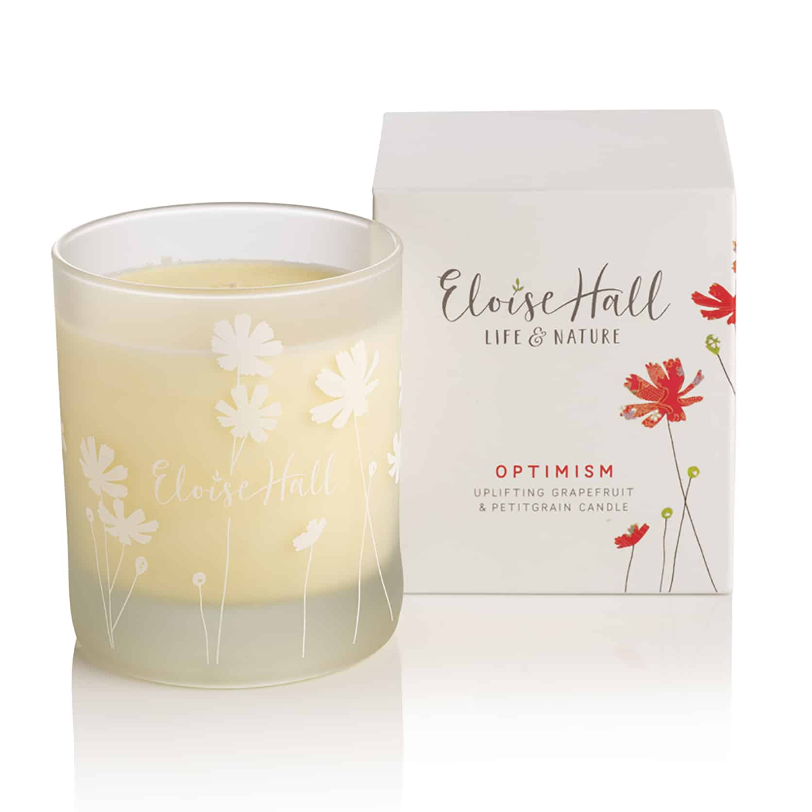 Uplifting grapefruit & petitgrain candle  Be uplifted by the naturally stimulating fragrance of grapefruit & petitgrain. The perfect way to reawaken your senses, at the end of a long day.  Blended and hand-poured with care, this little jar of pure pleasure is made from the finest essential oils and will enhance your mood with its therapeutic benefits.  Our luxurious candles use natural wax, which is kinder to you and the environment, giving you a clean, slow burn.  100% natural ingredients handmade in Engla