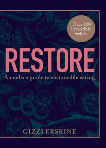 Gizzi Erskine provides over 100 recipes for real good food – that just happens to be good for you, and the planet. This book is full of practical steps and advice that can help push you towards living and eating more sustainably. Using the principles of eating seasonally, less meat and more plants, eating root-to-shoot or nose-to-tail, and using clever techniques to maximise flavour, the recipes don't compromise on flavour or satisfaction, showing that good food doesn't have to cost the earth.