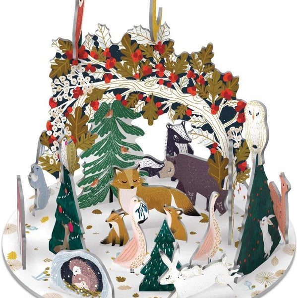 This Pop & Slot Calendar is from our Frosty Forest range featuring artwork by Antoana Oreski  Product Details:  Contains 2 sheets with 24 cardboard pop out icons  Width: 400 mm Height: 260 mm
