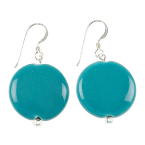 Bubbly, bright and fun-loving, these ceramic discs are both bold and strong in colour, making a fantastically sunny and cheerful accessory. Celebrate love of confident colour with these incredible earrings.