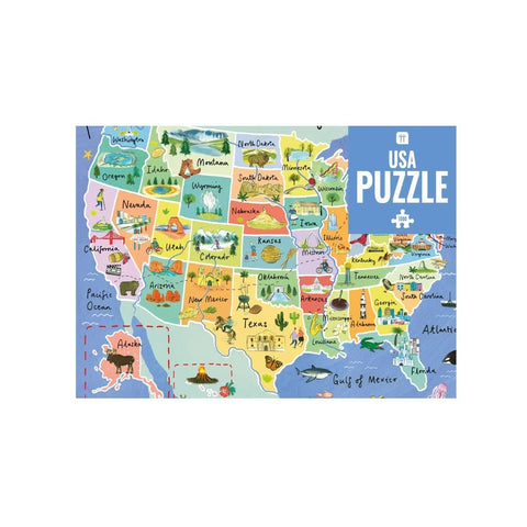 Test your geography knowledge as you piece together the map. This beautifully illustrated map of the USA puzzle features landmarks from across America. Perfect for relaxing on a rainy day, in lockdown or as a birthday present or Christmas gift for any geography fan or puzzle lover! It is also a great, fun way to try and learn all 50 states of America. Puzzles encourage wellness and are sure to help you relax. This unique design can become a permanent decoration in your home by putting in a frame and hanging