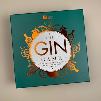 The ultimate board game for any gin lover! It's a game of chance and twists that will test your gin knowledge. Work your way around the board by answering History cards, Mixology cards, Gin-ius cards and more. 2-6 players, or play in teams of 6+ players. No drinking required.