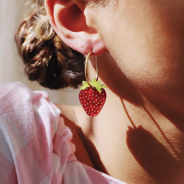 Strawberry Hoops - Gold