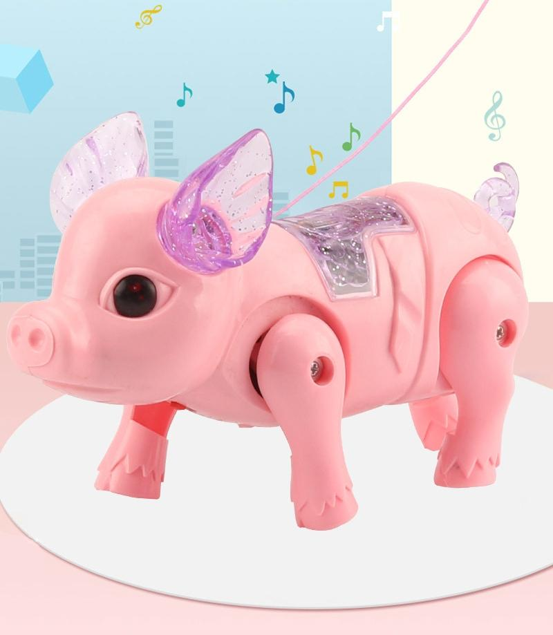 Electric luminous music pig doll