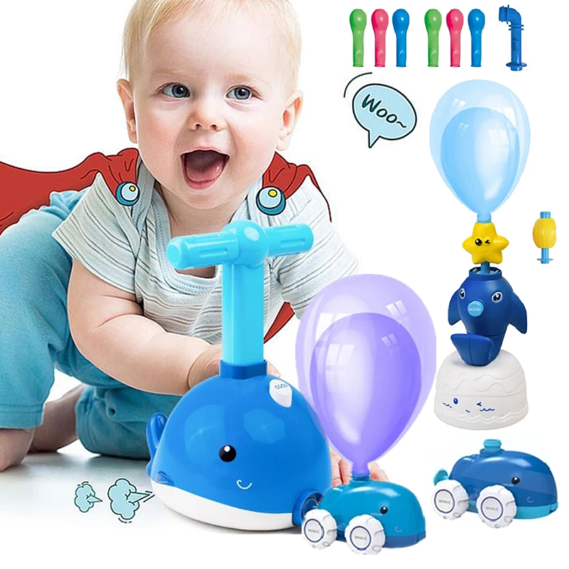 Little Whale Powered Balloon Launch Tower Toy