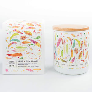 Lemon Gum Leaves flame it candle co