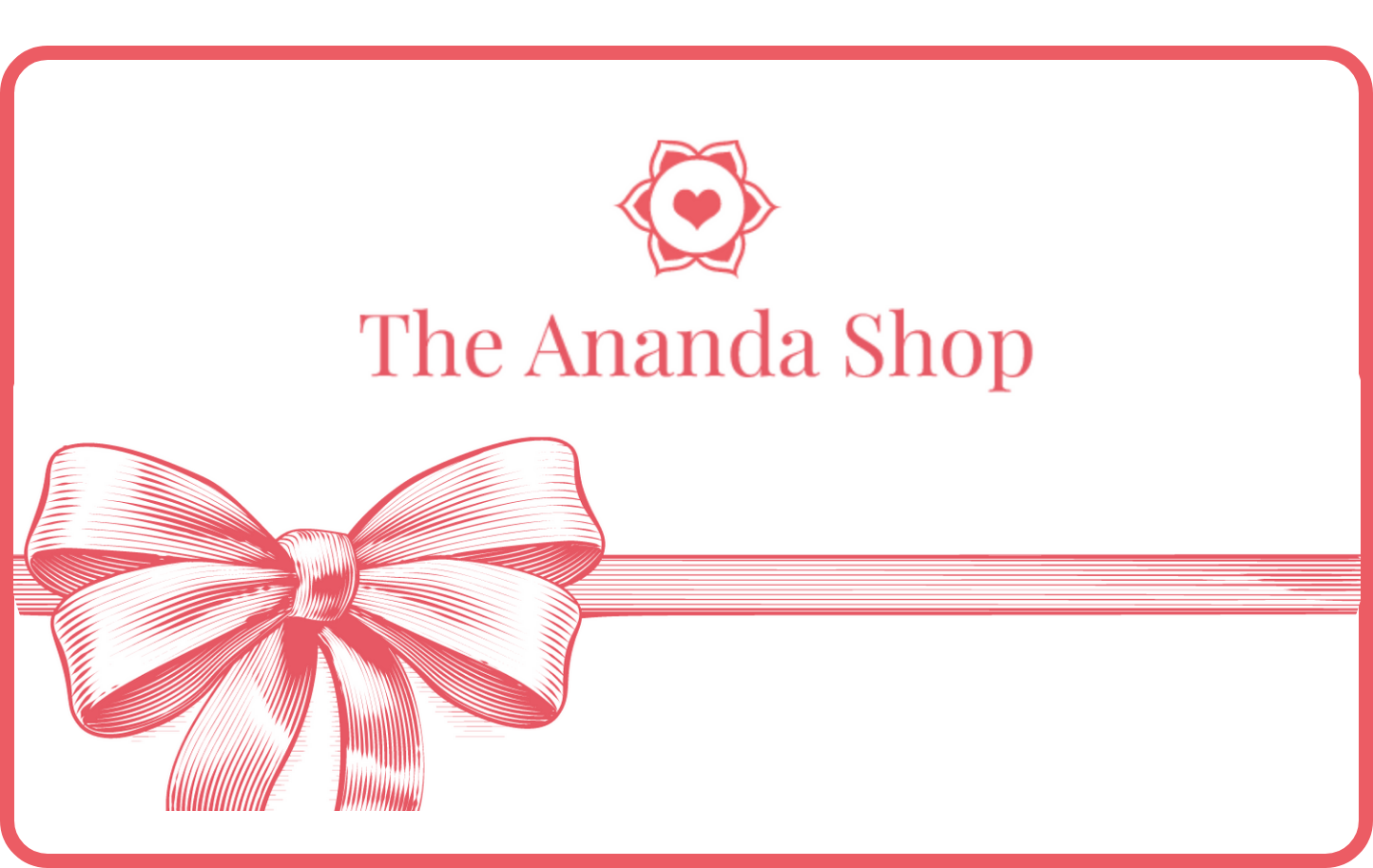 The Ananda Shop gift card