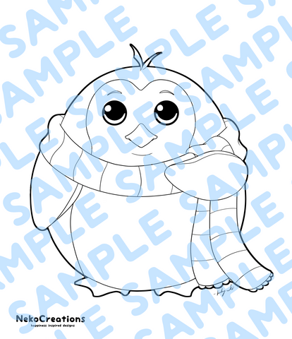 Drew Penguin Coloring Page