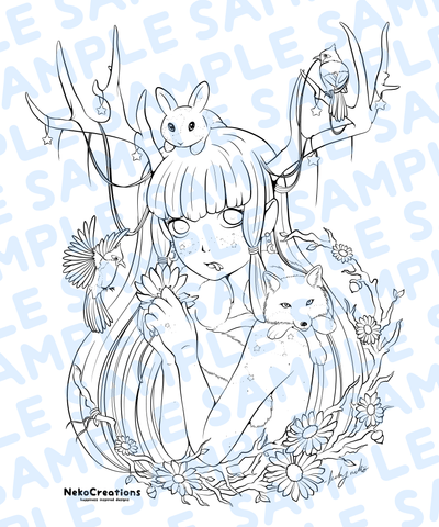 Antelle Coloring Page - NekoCreations