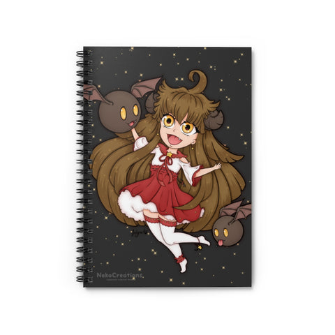 Cute Imp Girl Spiral Notebook
