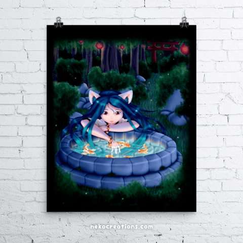 Neko Miko Art Print - NekoCreations
