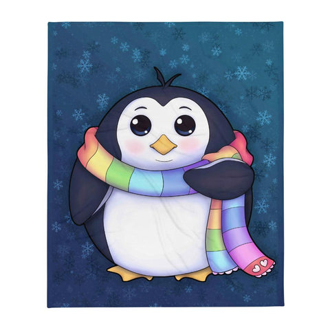 Drew Penguin Throw Blanket - NekoCreations