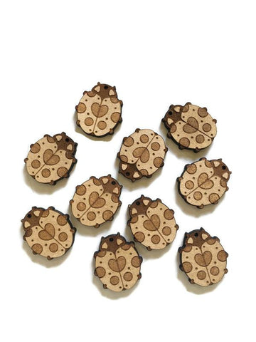 Laser Cut Ladybug Charms 10 Pack - NekoCreations
