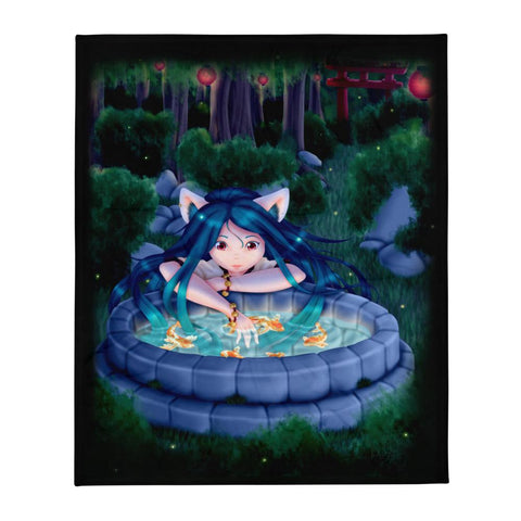 Neko Miko Throw Blanket - NekoCreations